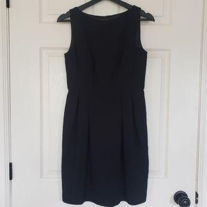Ann Taylor black sheath suiting business dress 2P